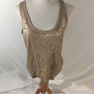 TALBOTS SEQUINED TOP